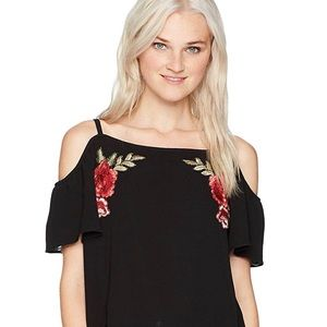 Beautiful off the shoulder black top